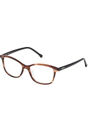 Loewe Unisex VLW9575206XE oprawka okularów, brązowe (Shiny Streaked Brown), 55