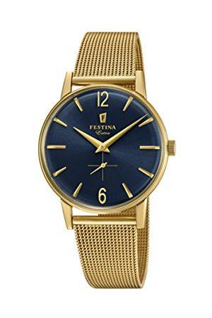Festina Męski analogowy klasyczny kwarcowy połączony zegarek na rękę z paskiem ze stali nierdzewnej F20253/2