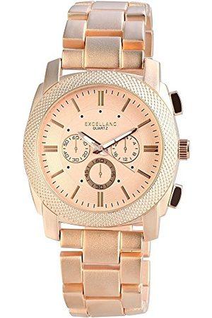 Excellanc Męski analogowy zegarek kwarcowy z różnymi materiałami bransoletka 28093550002