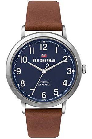 Ben Sherman Męski analogowy kwarcowy zegarek ze skórzanym paskiem WBS113UT