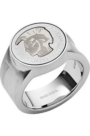 Diesel Pierścienie męskie e stal szlachetna, 56, colore: srebro, cod. DX1202040-8
