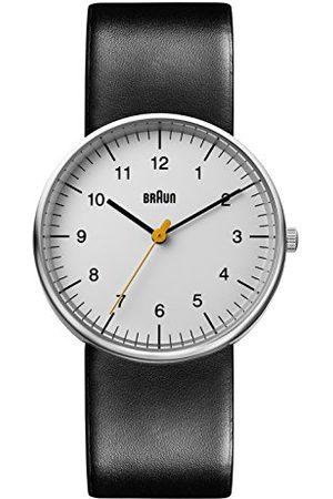 von Braun Męski analogowy klasyczny zegarek kwarcowy ze skórzanym paskiem BN0021BKG