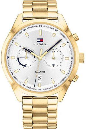 Tommy Hilfiger Męski analogowy zegarek kwarcowy z bransoletką ze stali szlachetnej 1791726