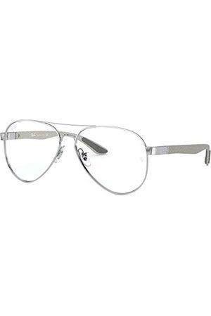 Ray-Ban Unisex 0RX8420-2501-55 okulary do czytania, srebrne, 55