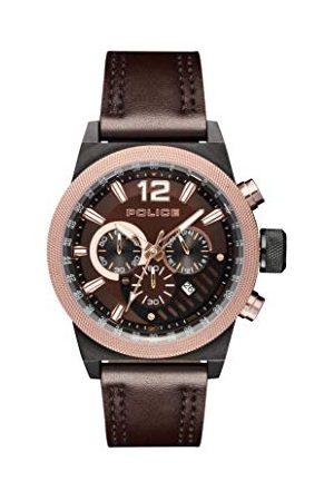 Police Policja męski chronograf kwarcowy zegarek ze skórzanym paskiem PL.15529JSBBN/12