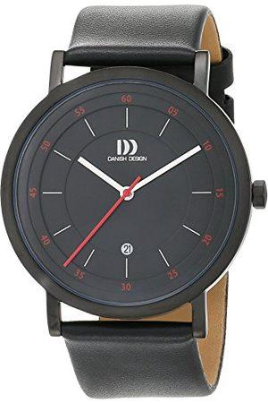 Danish Design Męski analogowy zegarek kwarcowy ze skórzaną bransoletką 3314527