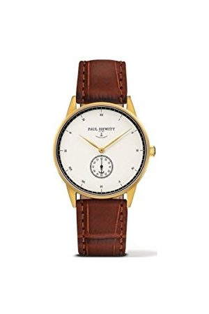 Paul Hewitt Uniseks dla dorosłych analogowy zegarek kwarcowy ze skórzanym paskiem PH-M1-G-W-14M