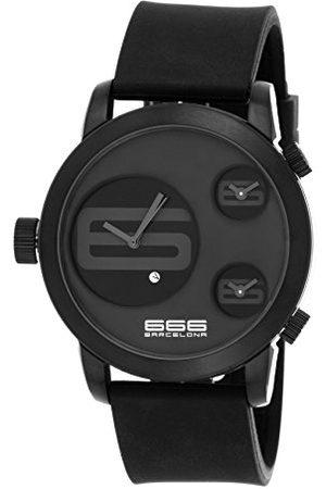 666Barcelona Męski analogowy zegarek kwarcowy z gumową bransoletką 66-341
