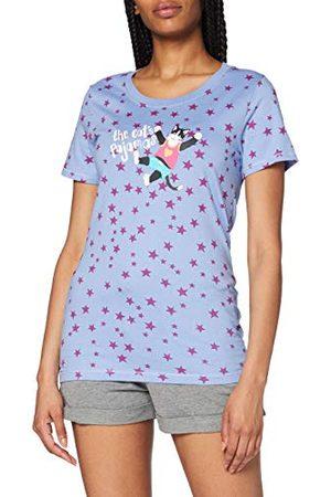 Hatley Damska koszulka z krótkim rękawem pod szyją z aplikacją piżama koszulka top