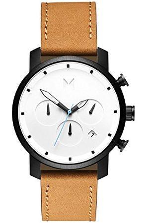 MVMT Męski analogowy zegarek kwarcowy ze skórzanym paskiem ze skóry cielęcej D-MC02-WBTL