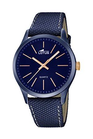 Lotus Lotos męski zegarek kwarcowy z niebieskim wyświetlaczem analogowym i niebieskim skórzanym paskiem 18166/2