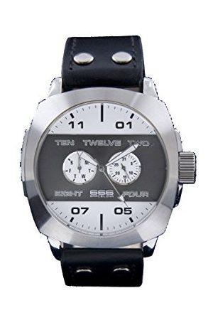 666Barcelona Męski analogowy zegarek kwarcowy ze skórzanym paskiem 66-251