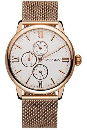 ORPHELIA Męski zegarek na rękę Executive analogowy kwarcowy stal szlachetna 122-9707-17