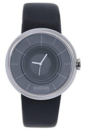 666Barcelona Męski analogowy zegarek kwarcowy ze skórzanym paskiem 66-291