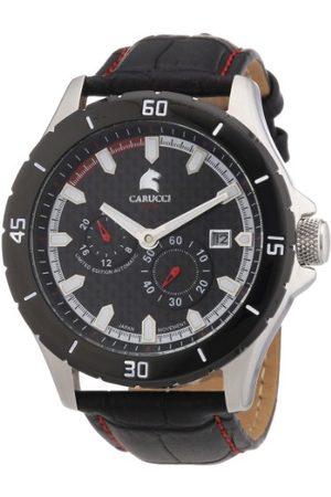 Carucci Watches męski zegarek na rękę XL analogowy automatyczny skóra CA2187RD