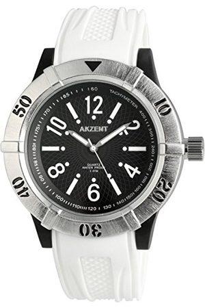 Akzent Męski analogowy zegarek kwarcowy z silikonowym paskiem SS867100001