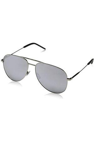 Saint Laurent Unisex Classic 11 011 okulary przeciwsłoneczne, srebrne (Silver/Silver), 59