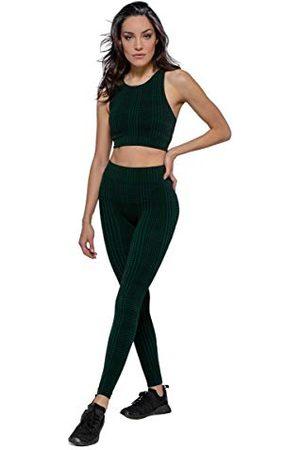 Heart And Soul Legginsy damskie Donna Houndstooth spodnie sportowe, czarne, średnie
