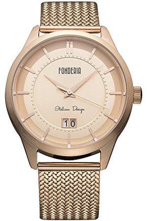 Fonderia Męski analogowy zegarek kwarcowy Smart Watch z bransoletką ze stali szlachetnej P-8R010UR1