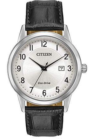 Citizen Męski analogowy zegarek kwarcowy ze skórzaną bransoletką AW1231-07A