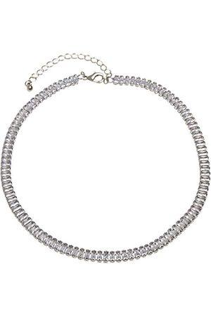 Urban classics Unisex Short Crystal Necklace spinki do mankietów, srebrne, jeden rozmiar