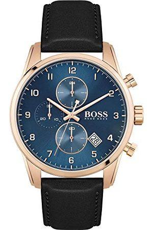 HUGO BOSS Męski analogowy zegarek kwarcowy ze skórzanym paskiem 1513783