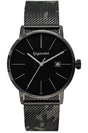 Gigandet Męski analogowy zegarek kwarcowy z bransoletką ze stali szlachetnej G42-017