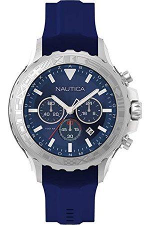 Nautica NAD18534G męski analogowy kwarcowy zegarek z silikonową bransoletką