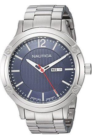 Nautica Męski analogowy zegarek kwarcowy z bransoletką ze stali szlachetnej NAPPRH019