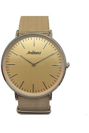 ARABIANS Męski analogowy zegarek kwarcowy z bransoletką z materiału HBA228B