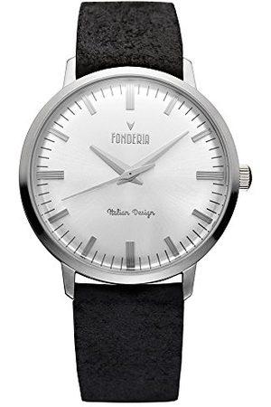 Fonderia Męski analogowy zegarek kwarcowy Smart Watch ze skórzanym paskiem P-6A003US3