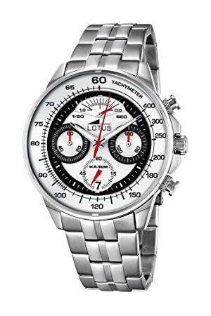 Lotus Męski analogowy zegarek kwarcowy z bransoletką ze stali szlachetnej 10129/1