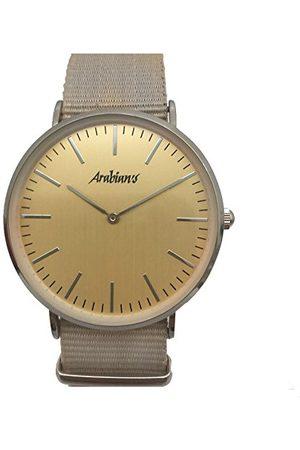 ARABIANS Męski analogowy zegarek kwarcowy z bransoletką z materiału HBA228BO