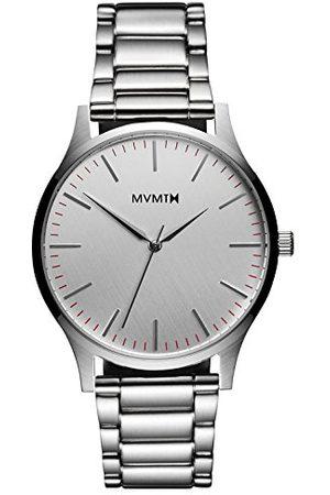 MVMT Męski analogowy zegarek kwarcowy z paskiem ze stali nierdzewnej D-MT01-S