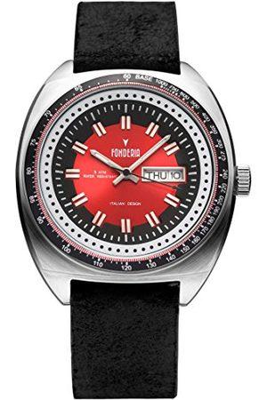 Fonderia Męski analogowy zegarek kwarcowy Smart Watch ze skórzanym paskiem P-6A004UR1
