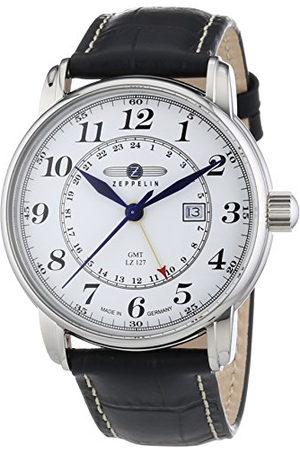 Zeppelin Męski zegarek na rękę XL LZ127 Graf Analogowy Kwarc Skóra 76421
