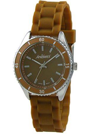Arabians Męski analogowy zegarek kwarcowy z silikonową bransoletką DBA2125M