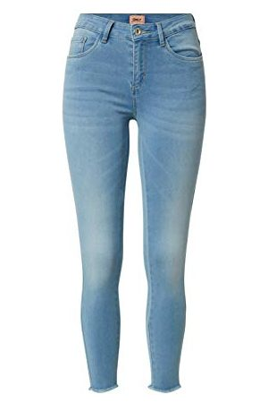 JACQUELINE DE YONG Damskie spodnie JDYNIKKI JEGGING HIGH MB NOOS DNM, Light Blue Denim, M