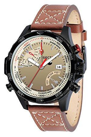 Sector NO LIMITS męski analogowy zegarek kwarcowy ze skórzanym paskiem R3251507001