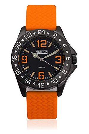 Munich Unisex dla dorosłych analogowy zegarek kwarcowy z gumową bransoletką MU+120.3A