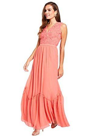 Little Mistress Damska Casey grejpfrut szydełkowana sukienka maxi impreza