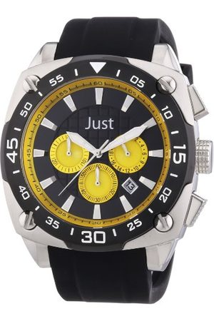 Just Watches Męski zegarek na rękę XL analogowy kwarcowy kauczuk 48-STG2373-YL