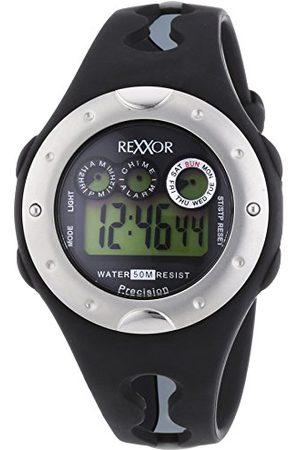 Rexxor Męski zegarek na rękę XL cyfrowy kwarcowy kauczuk 239-6068-44