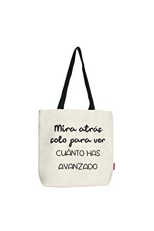Econanos Hellobags2019 płócienna i plażowa torba na zakupy, 38 cm, biała (BLANCO)