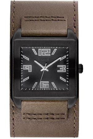 s.Oliver Męski zegarek na rękę analogowy kwarcowy skóra SO-2629-LQ