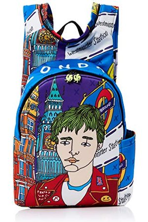Morikukko Unisex-dorosły plecak z kapturem Londyn plecak wielokolorowy (Londyn) 33 x 8 x 40 cm (szer. x wys. x dł.)