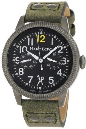 Marc Ecko Męski data klasyczny zegarek kwarcowy ze skórzanym paskiem E14541G1