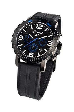 BOGEY Męski chronograf kwarcowy zegarek z gumową bransoletką BSFS003BLBK