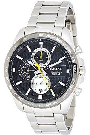 Seiko Chronograf zegarek męski stal szlachetna z metalowym paskiem SSB261P1