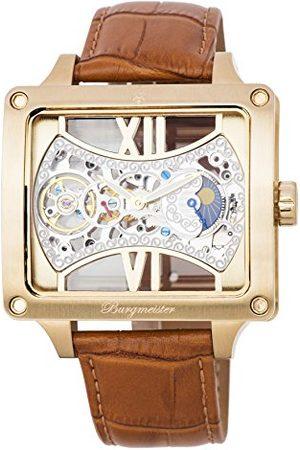Burgmeister Męski data klasyczny zegarek mechaniczny ze skórzanym paskiem BM234-205